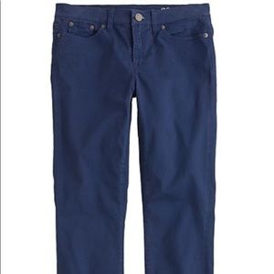 J crew Stretch Sateen Toothpick Pants Size 27 Blue